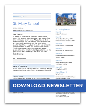 Download St. Mary November 30, 2016 Newsletter